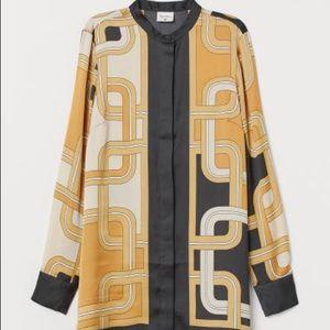 NWT h&m x Richard Allen satin button up blouse